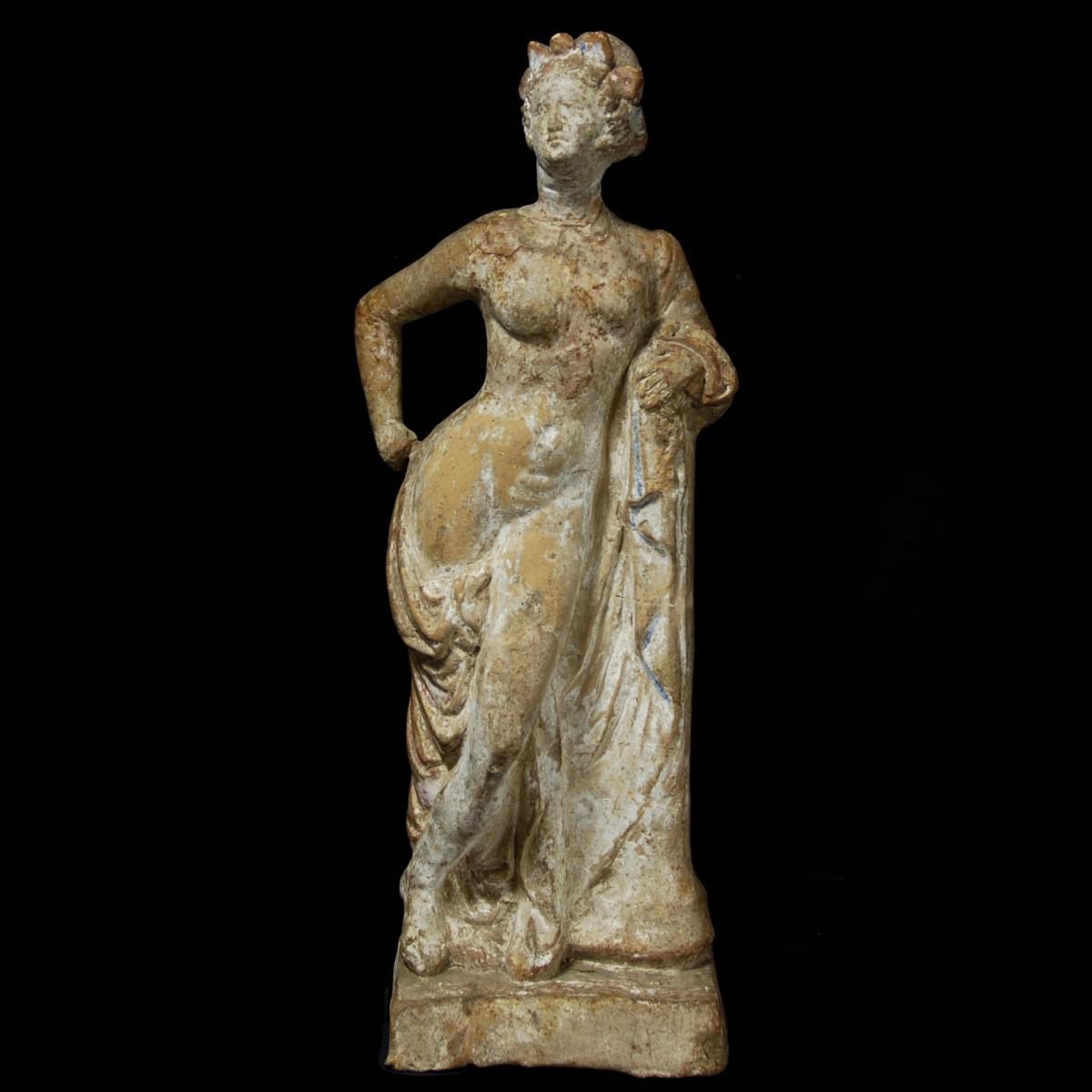 Hellenistic terracotta statue of aphrodite