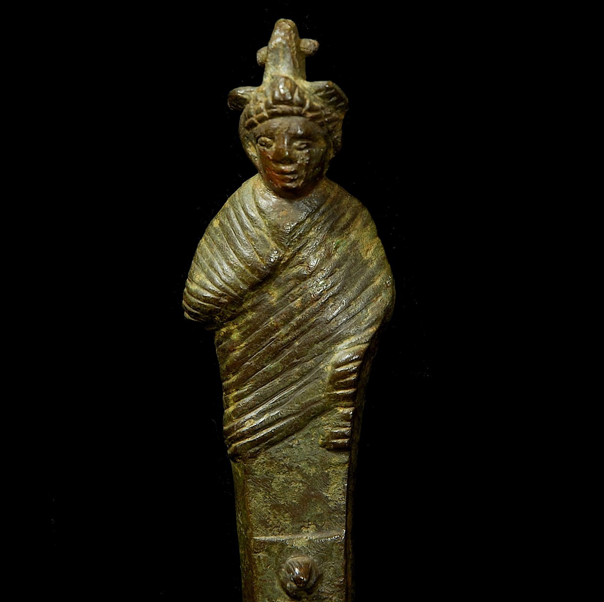 Roman bronze herm close