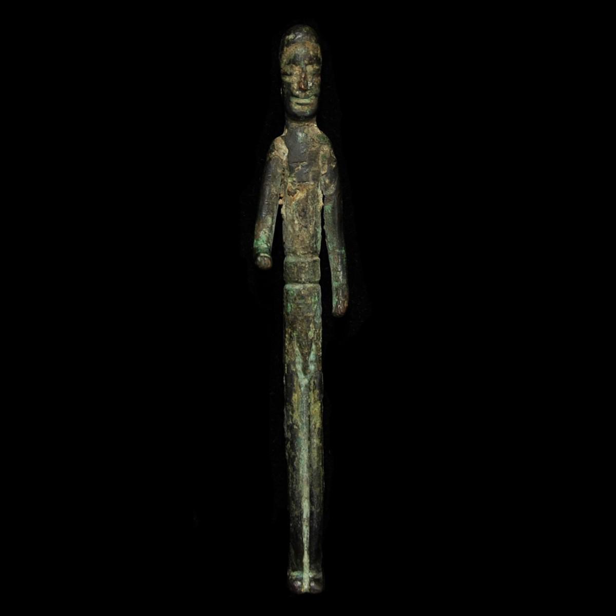 Etruscan elongated votive figure front