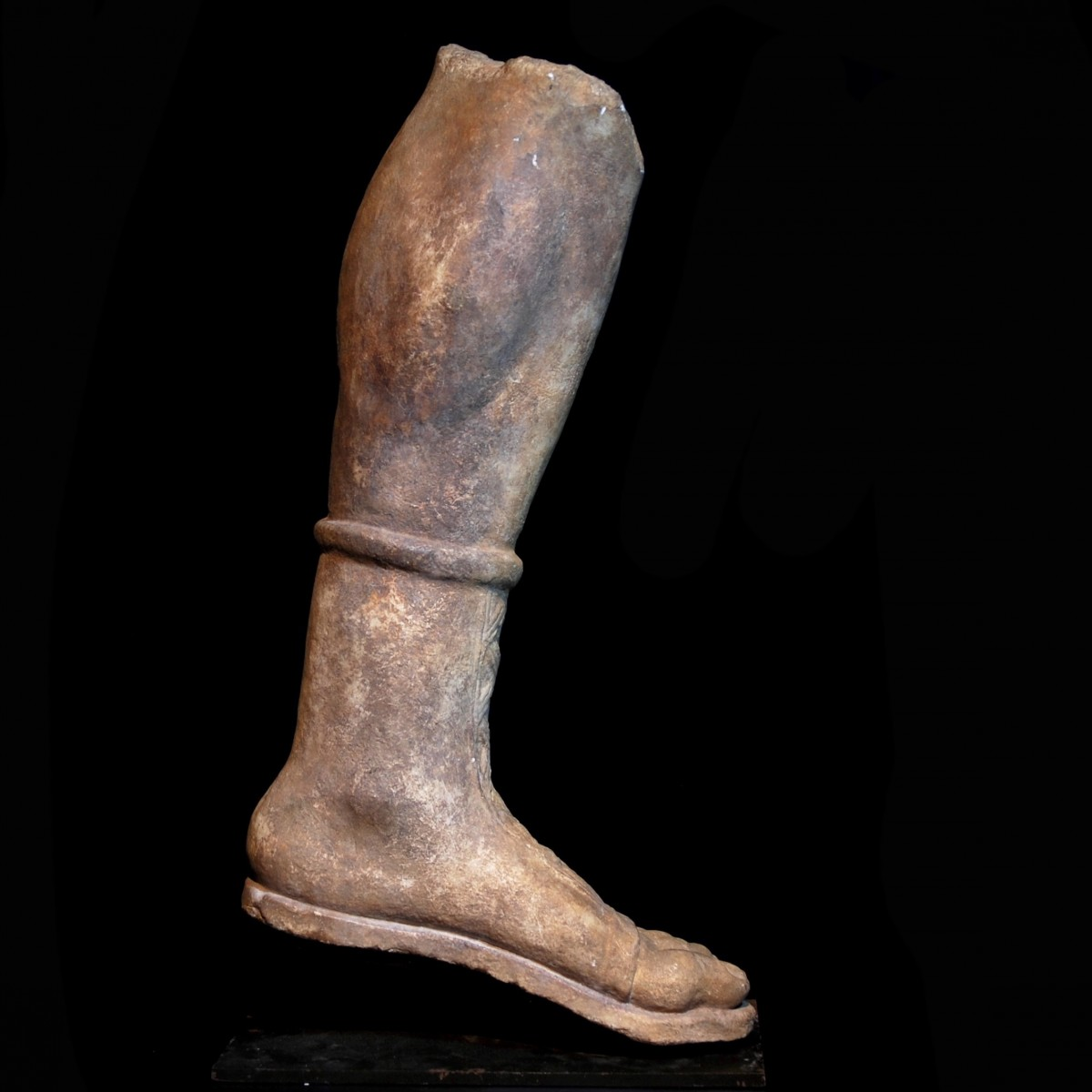 Gallo-Roman Limestone leg of Artemis right