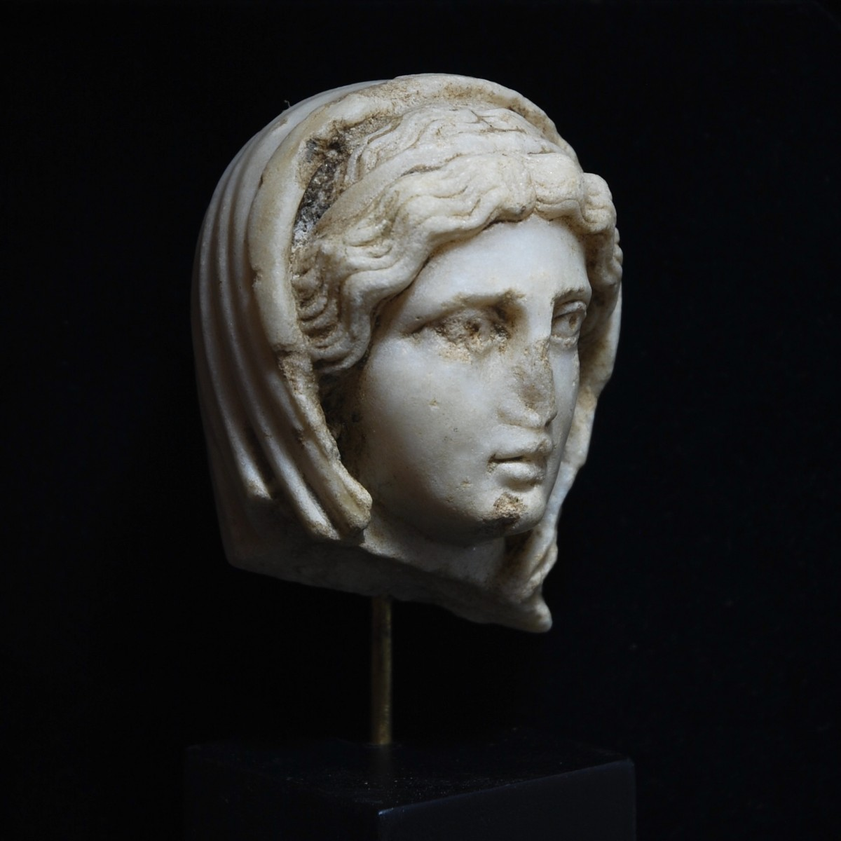 Roman marble head of the pudicitia type half right