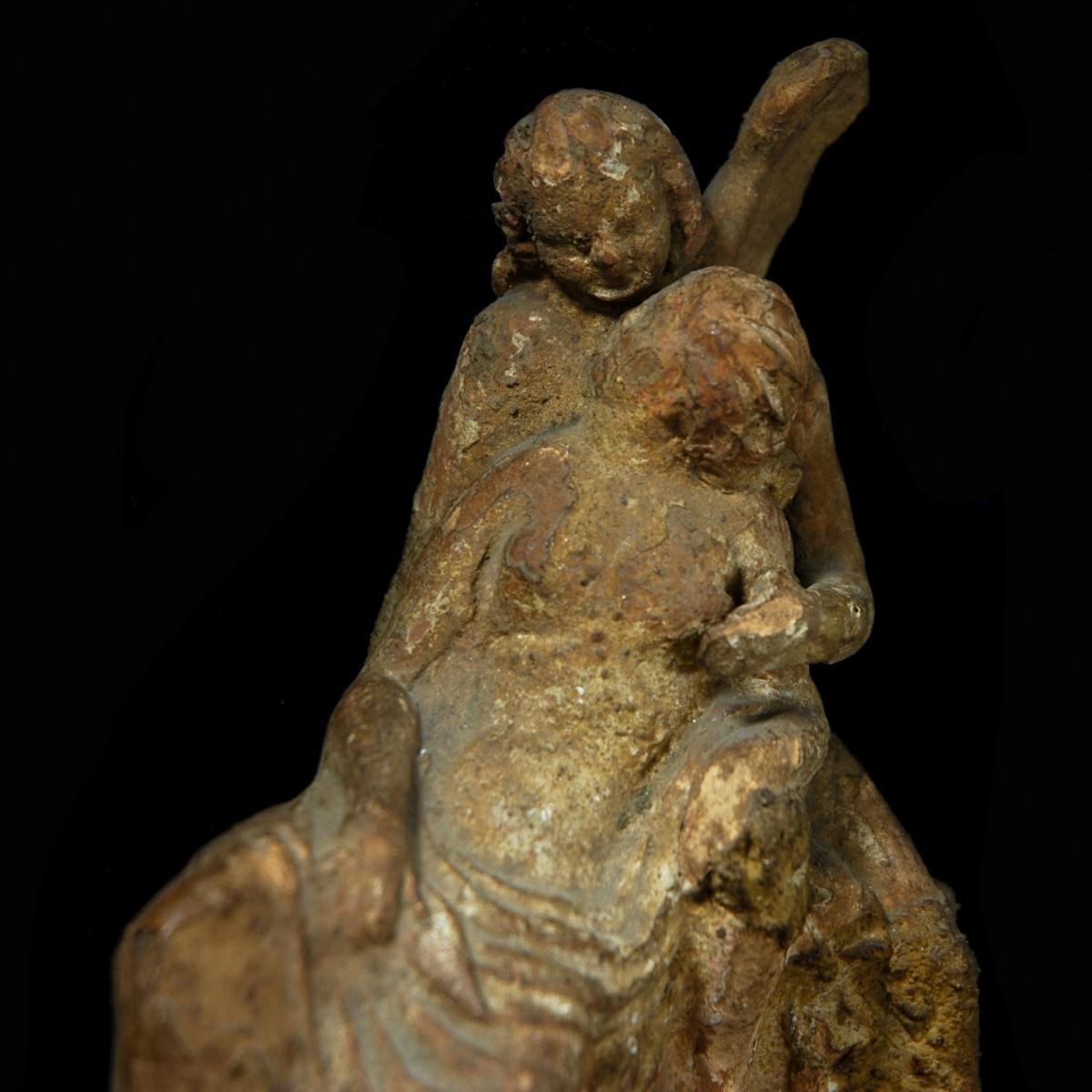 Terracotta Amor Psyche Detail