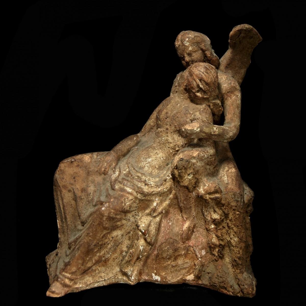 Terracotta group amor psyche