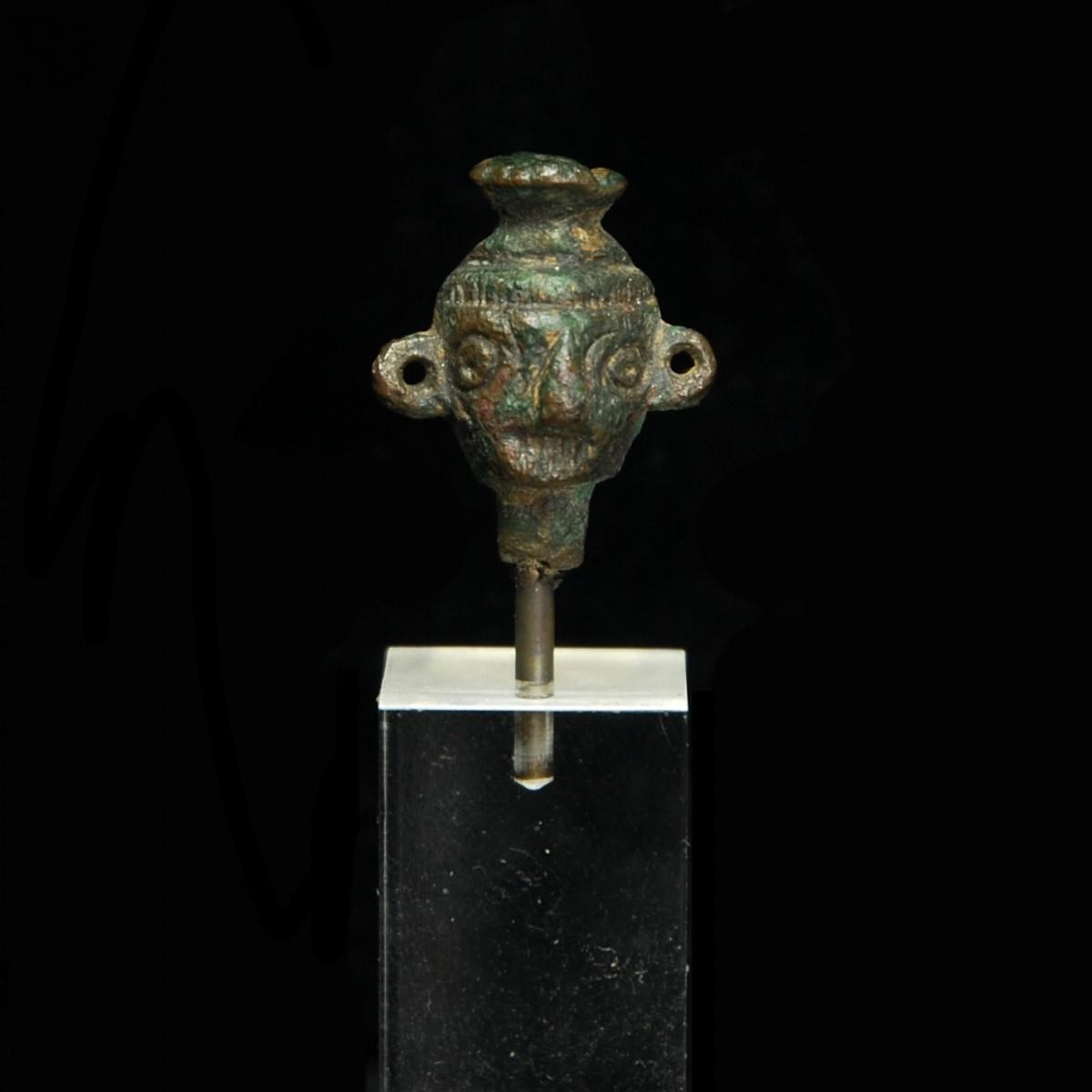 Western Asiatic bronze head