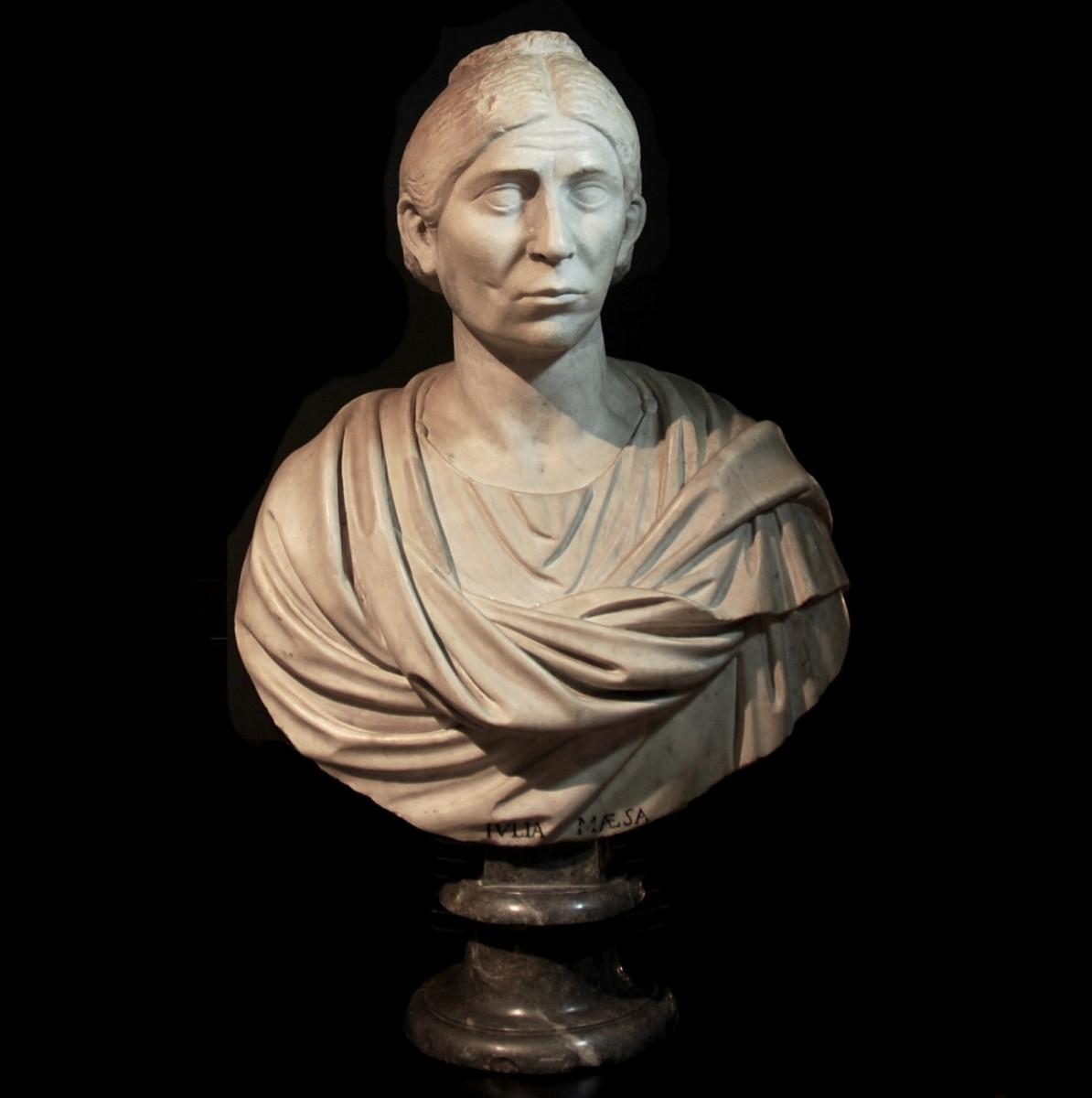 Roman marble bust of a matrona barracks emperor period