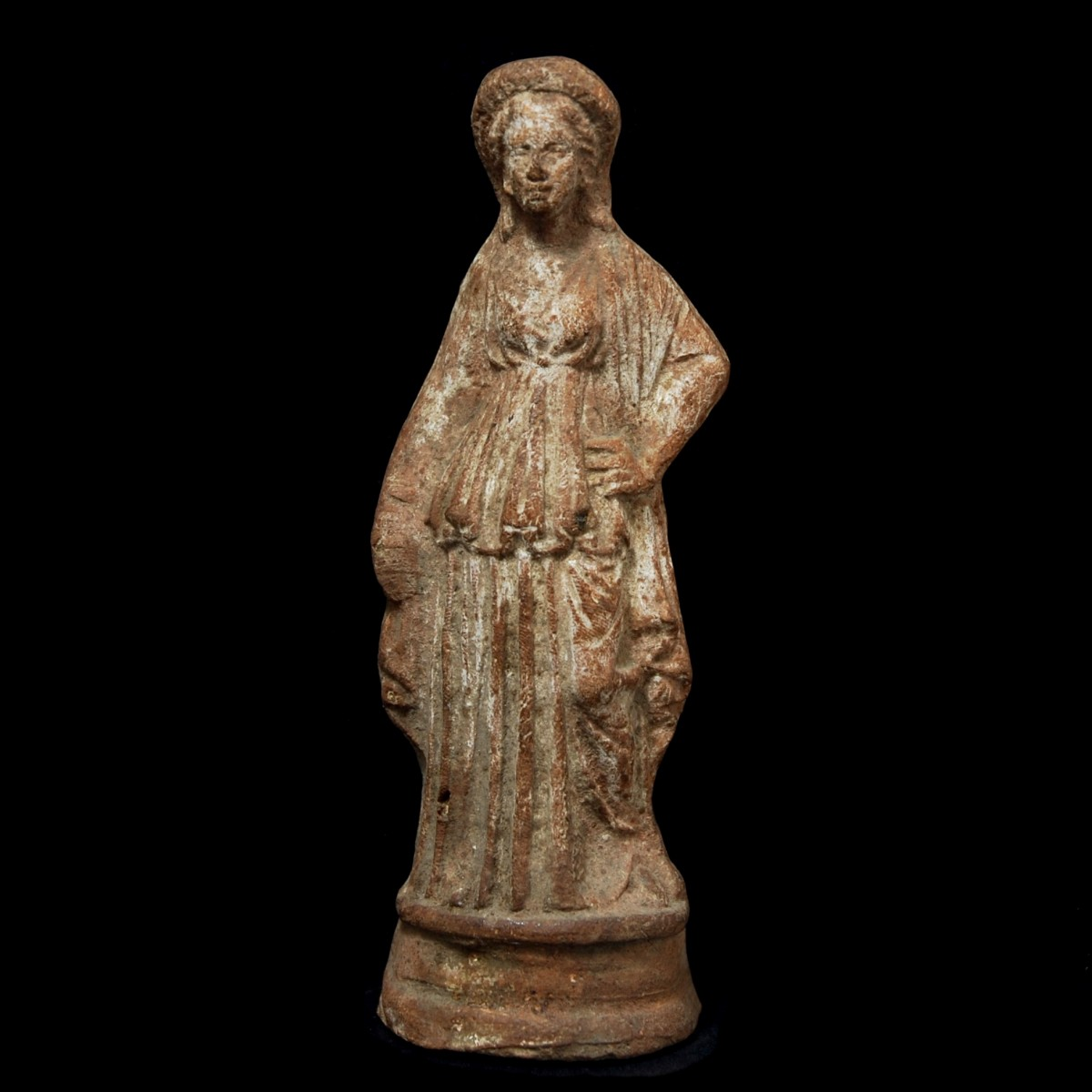Cypriot terracotta statue of a woman