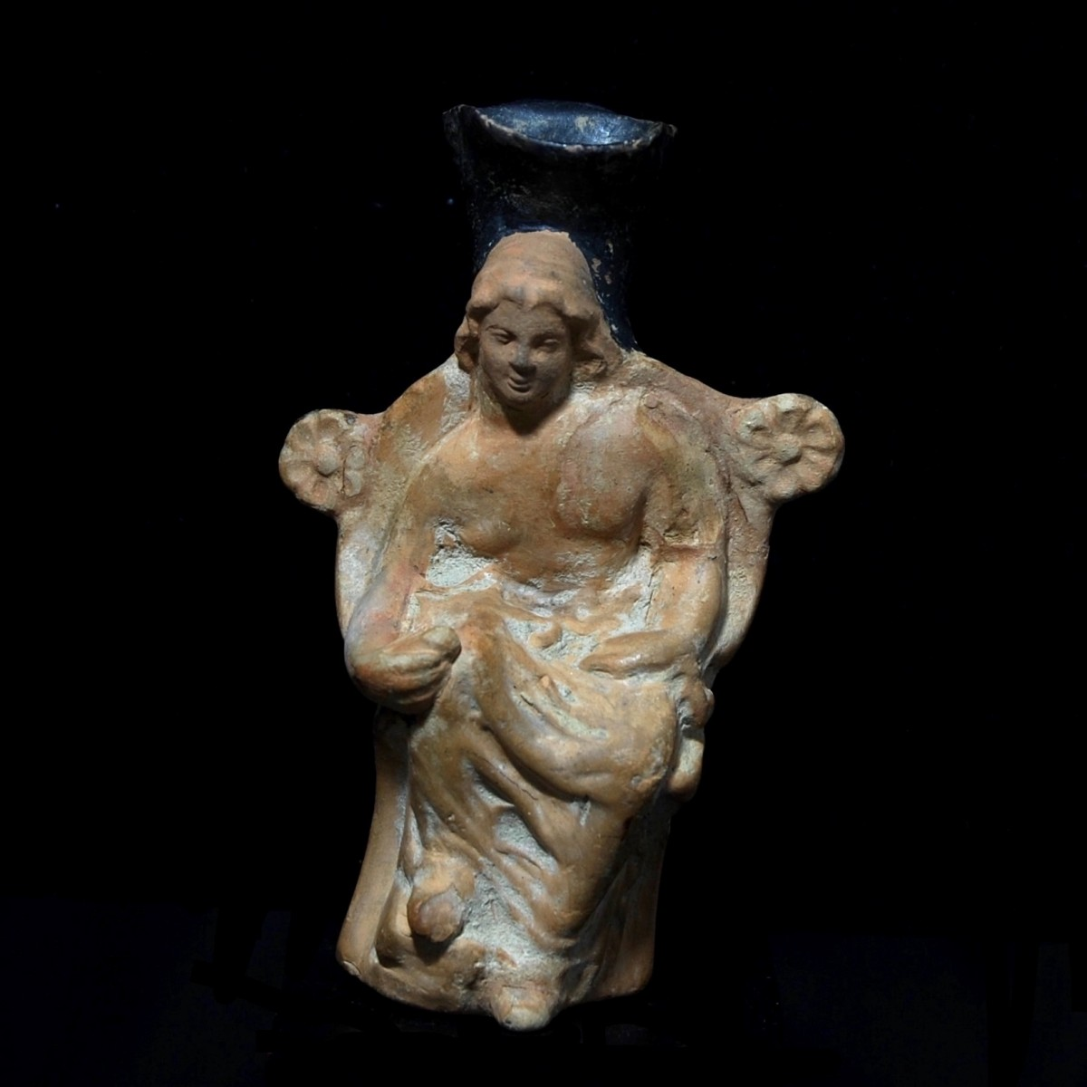Greek figurative vase with Adonis