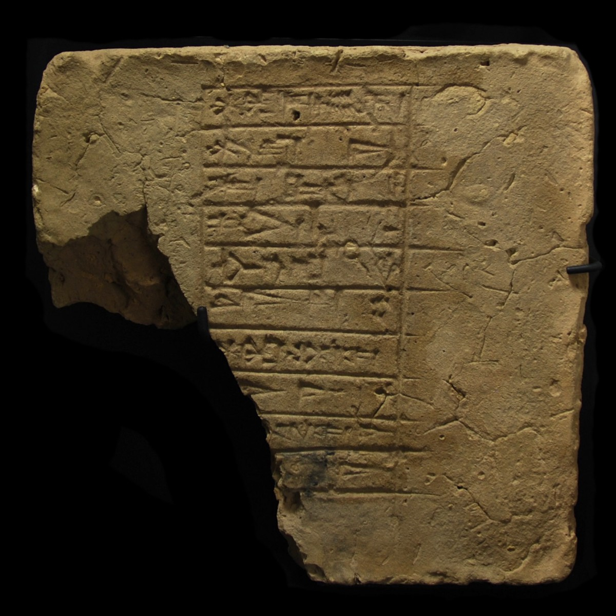 Cuneiform brick with inscription of Gudea