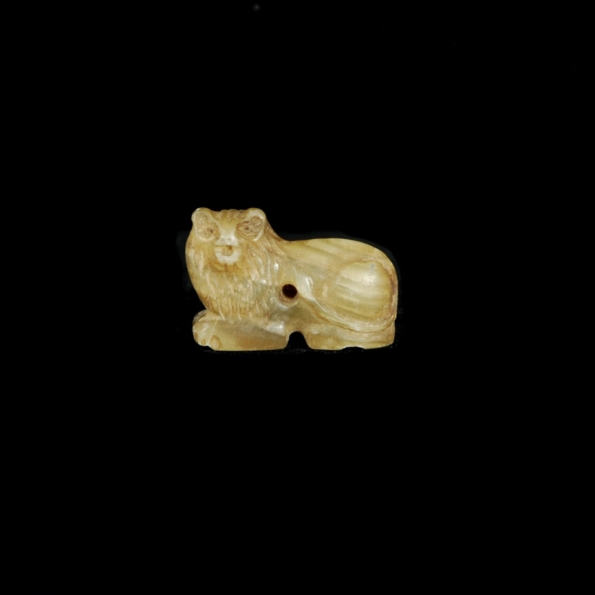 Near Eastern agate lion amulet
