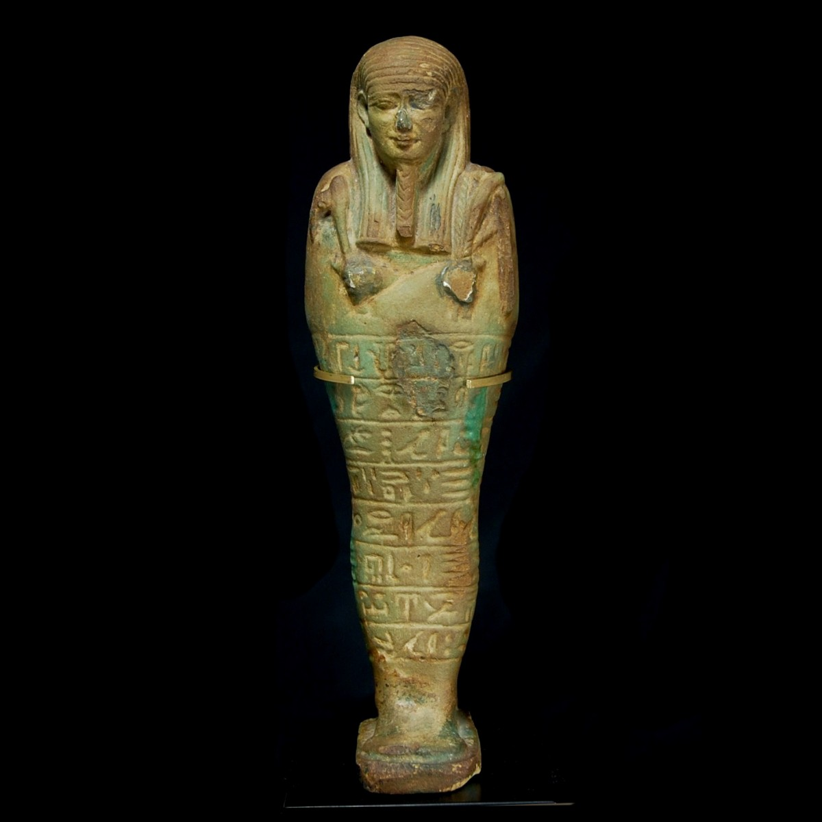 Egyptian faience ushabti front