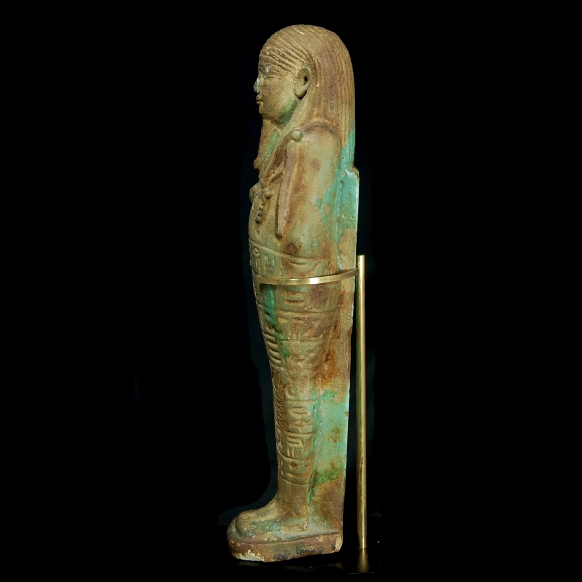 Egyptian faience ushabti left