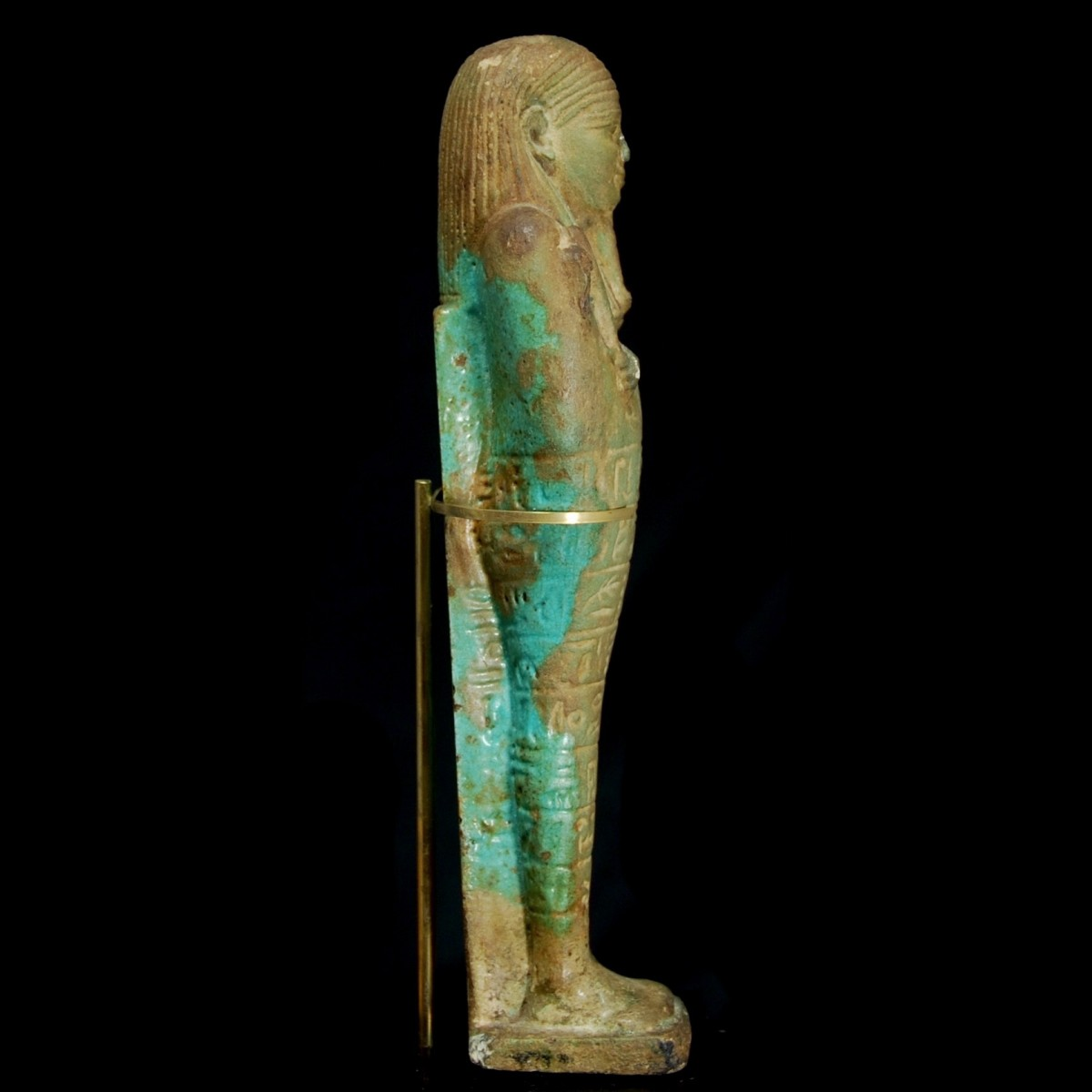 Egyptian faience ushabti right
