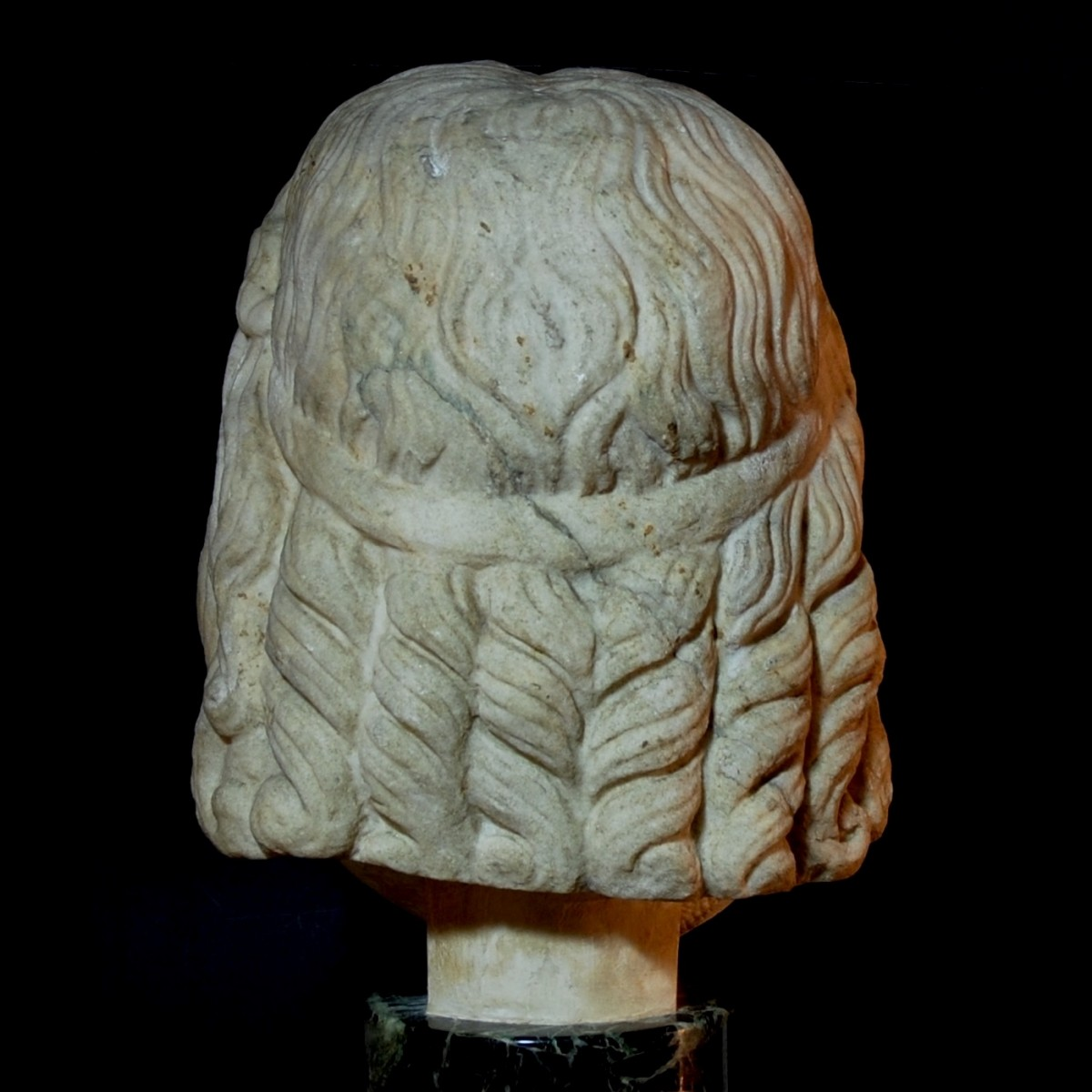Monumental Marble head of Serapis back