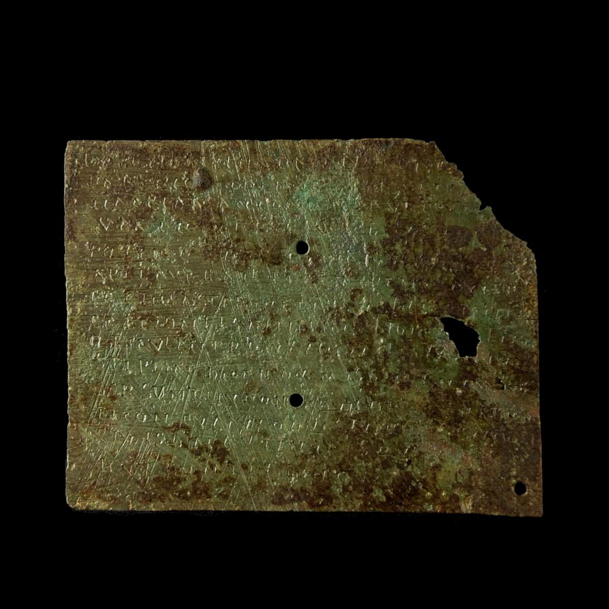 Roman military diploma from Mauretania Tingitana back