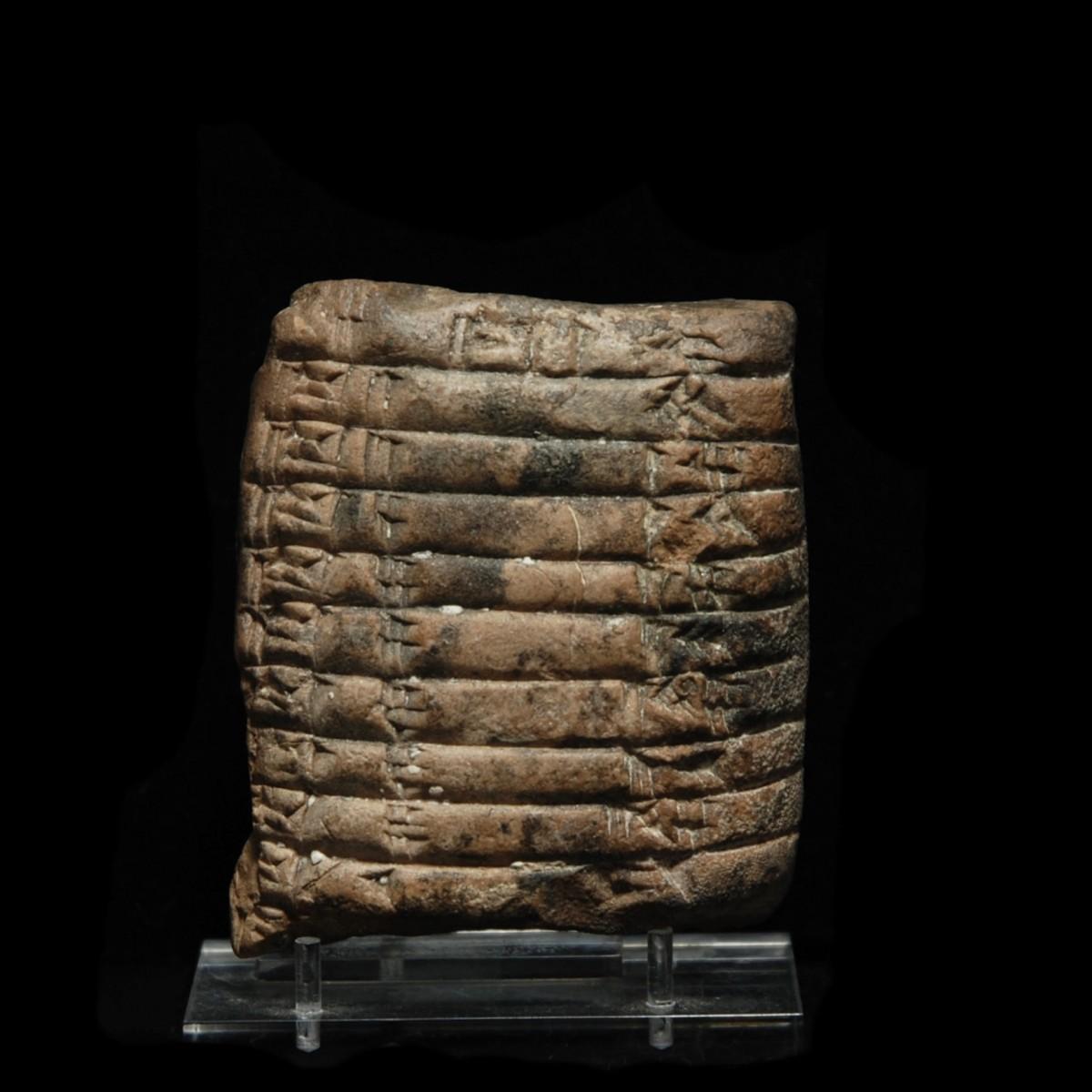 Cuneiform tablet mathematic