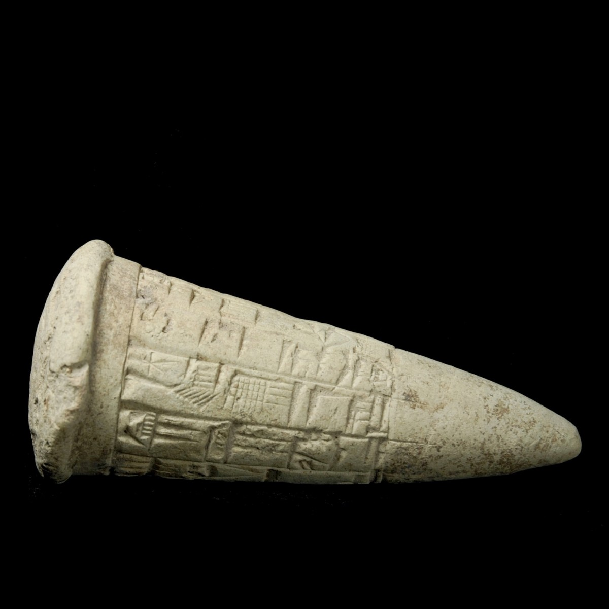 Foundation cone of Gudea lying