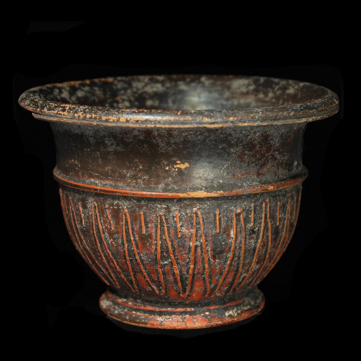 Roman terracotta relief bowl