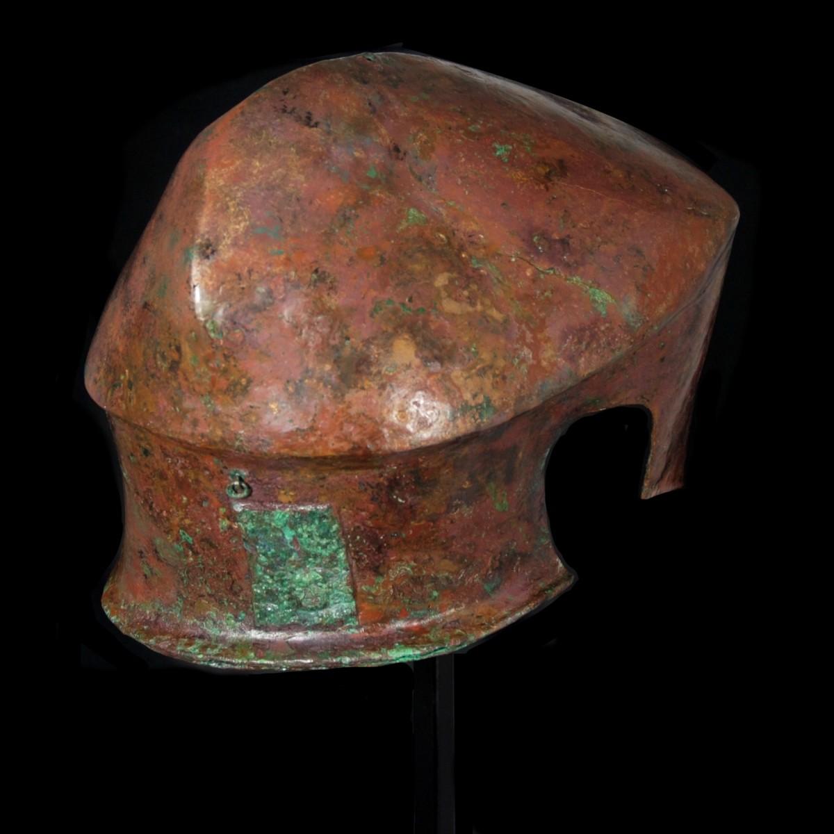 Chalcidian helmet back