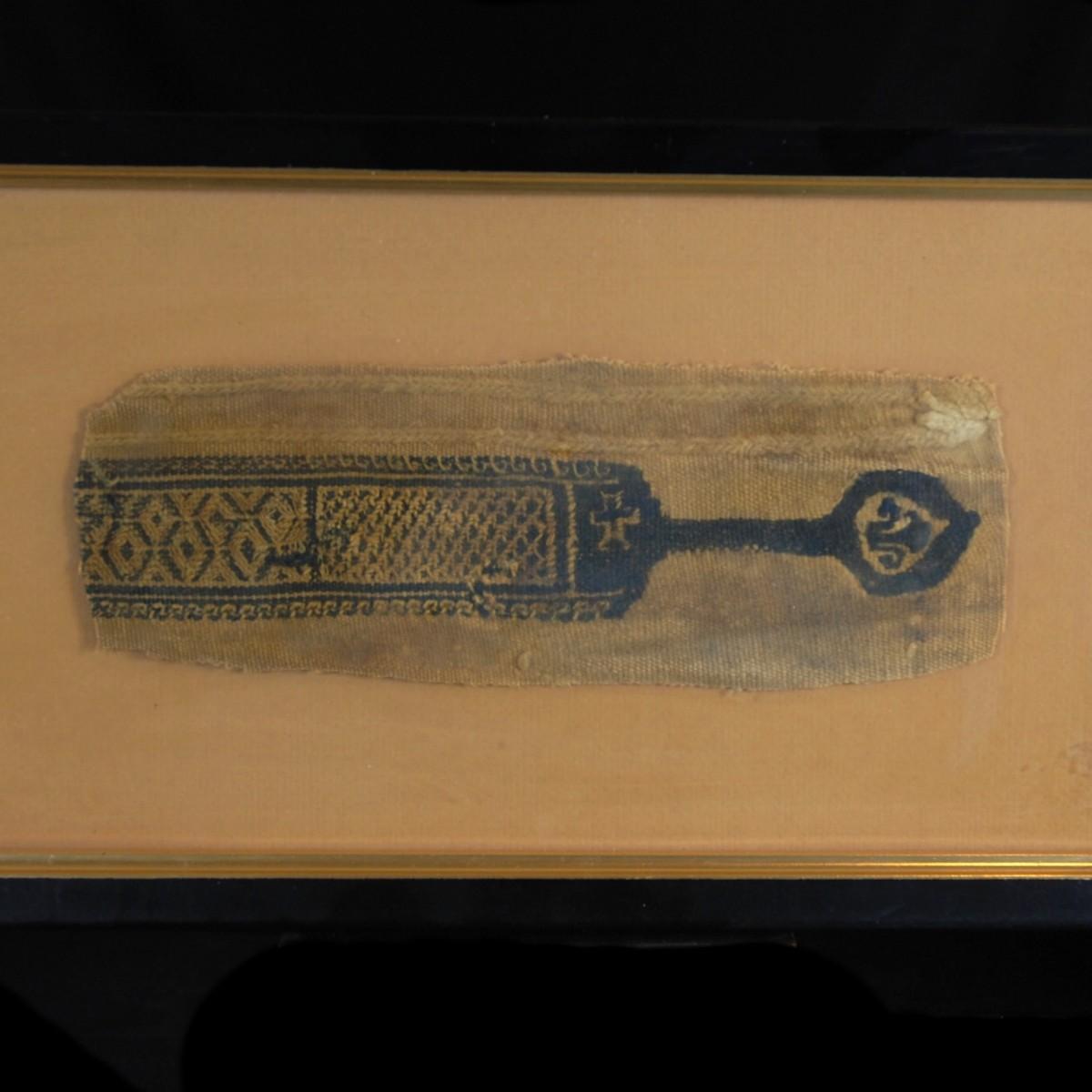Clavus of a coptic textile detail