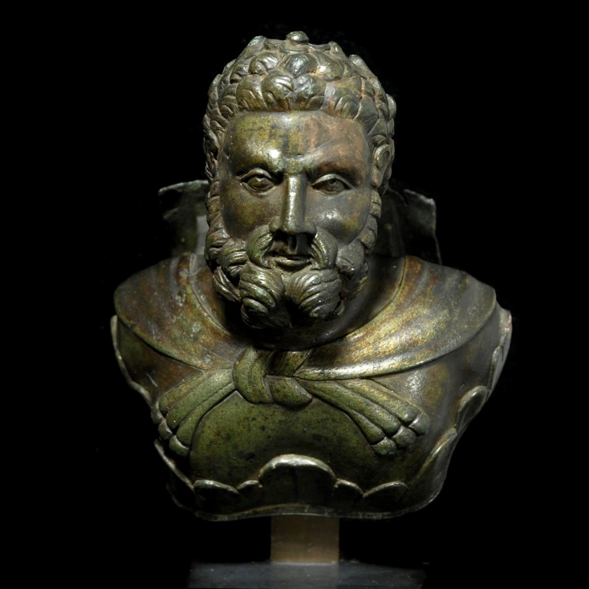 Roman Bronze bust of Hercules