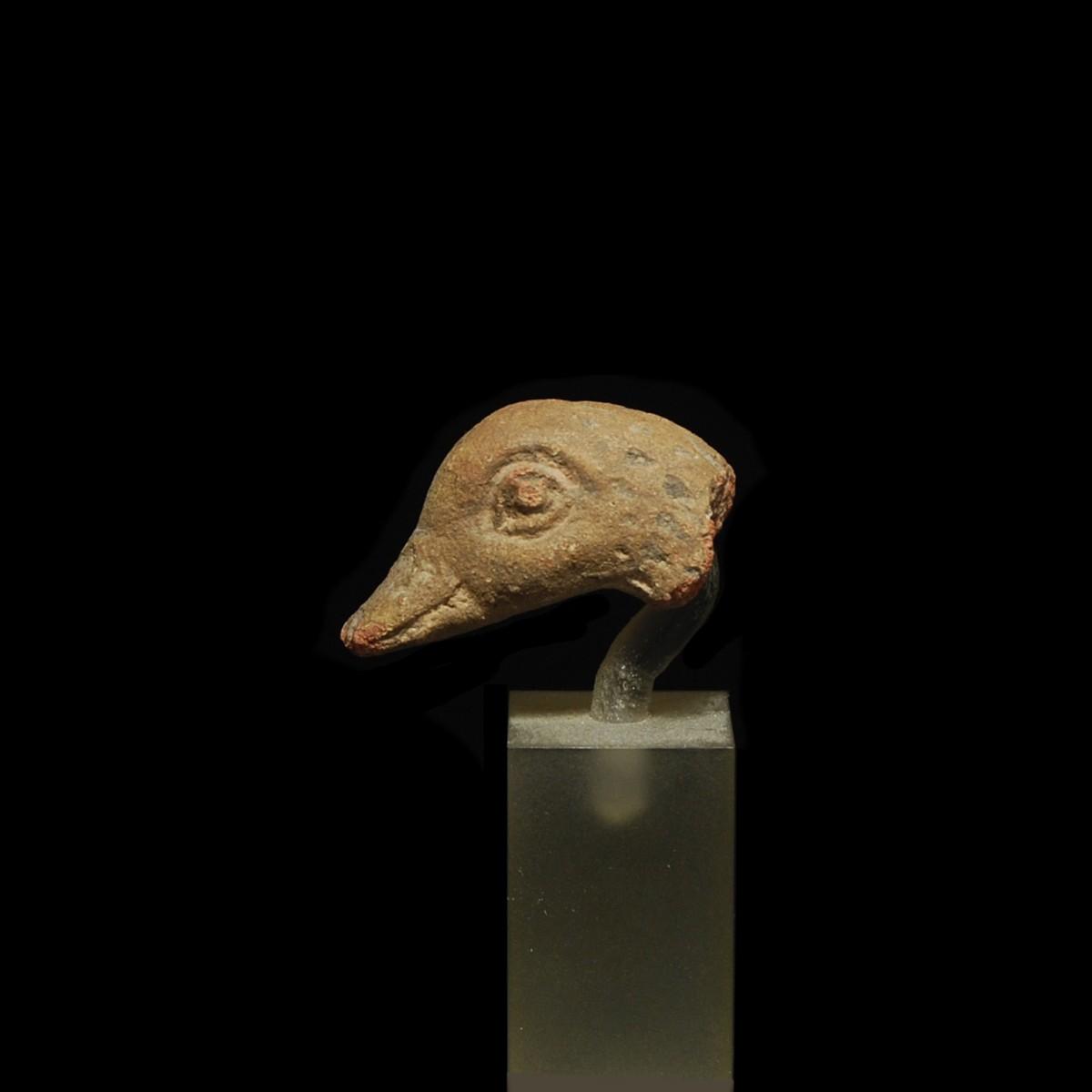Roman Terracotta head of a duck from Alexandria