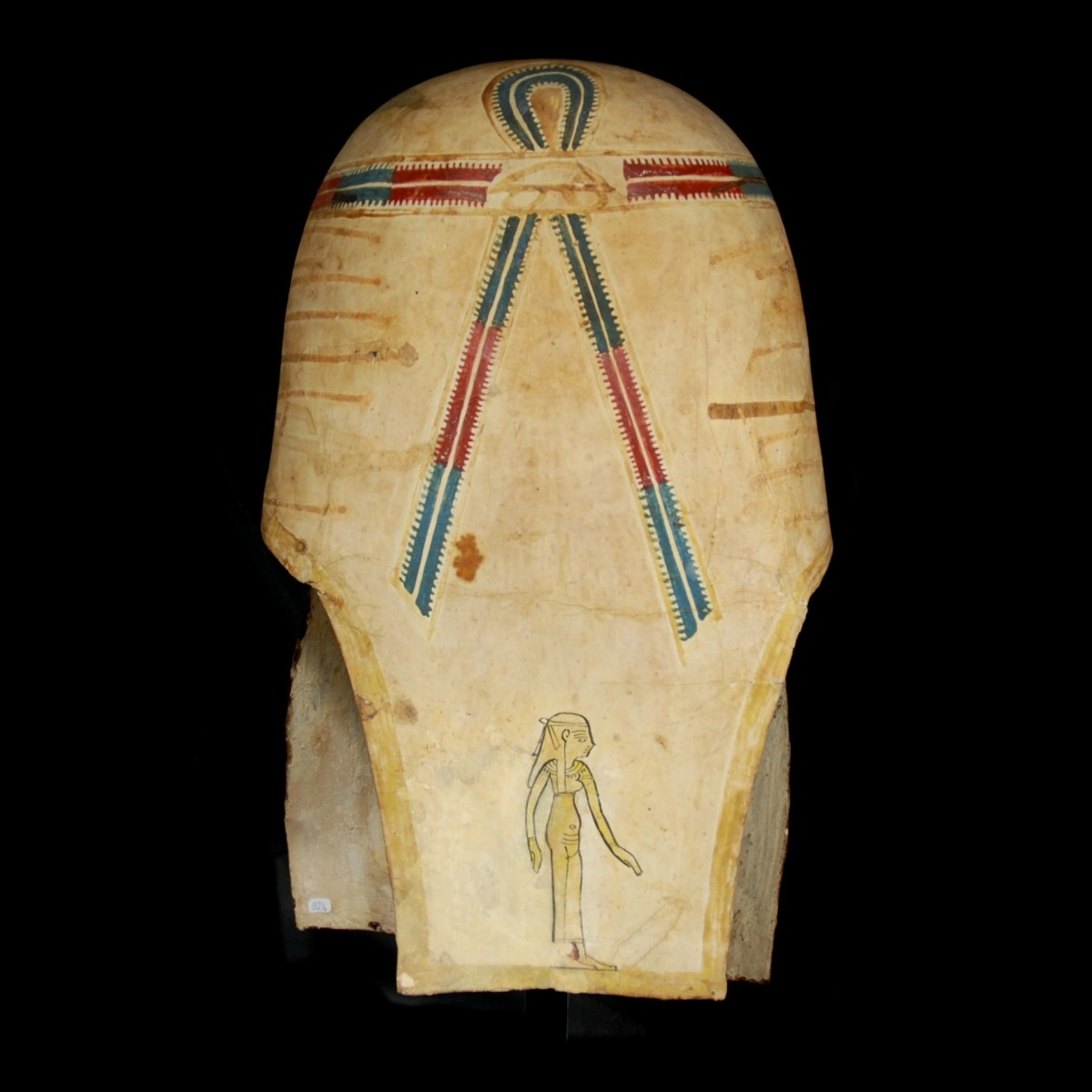 Eyptian gilt cartonnage mummy mask back