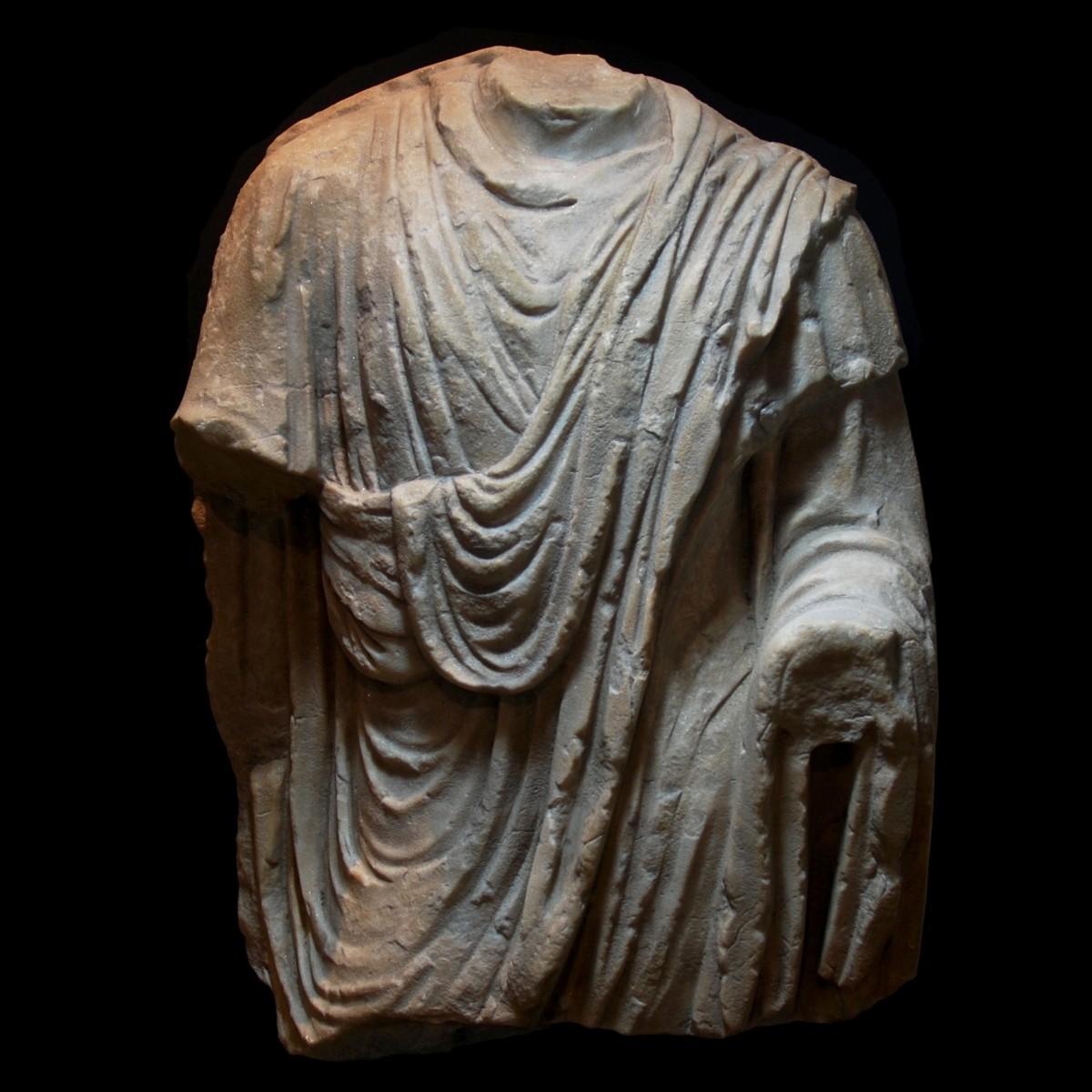 Large Roman Marble togatus