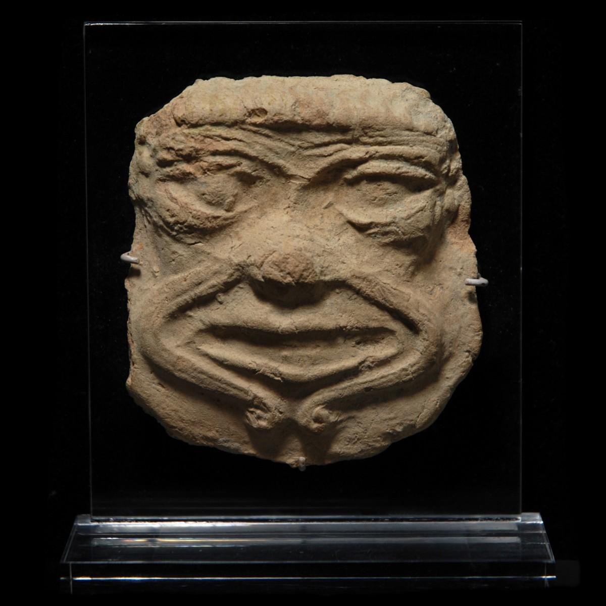 Babylonian Terracotta mask of Humbaba