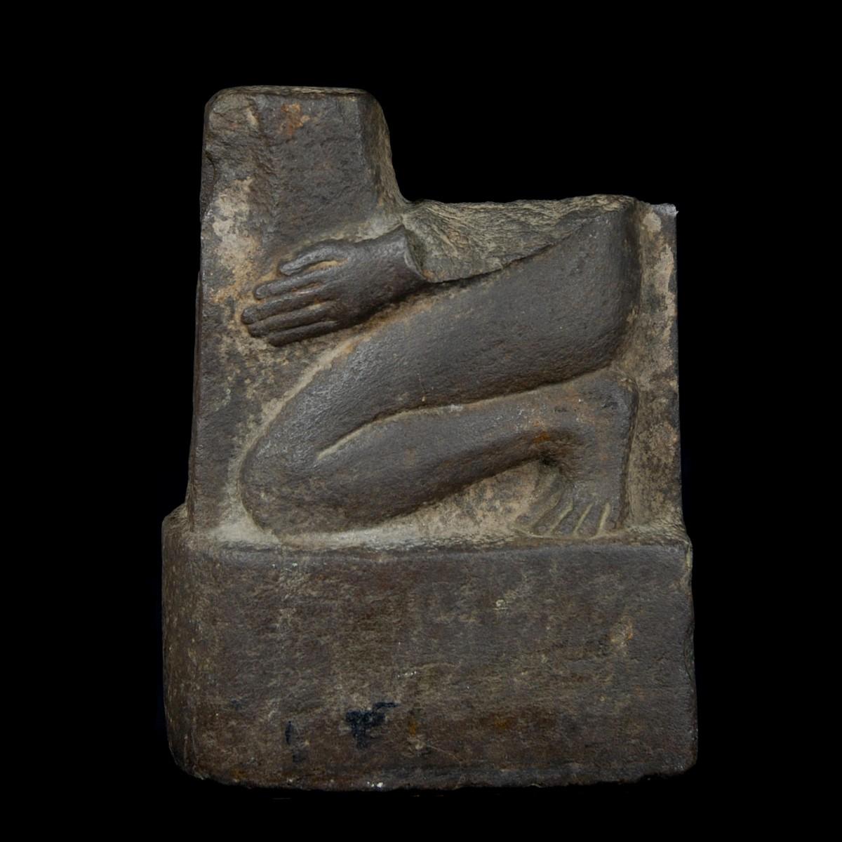 Egyptian Basalt Fragment of a Naophoros left