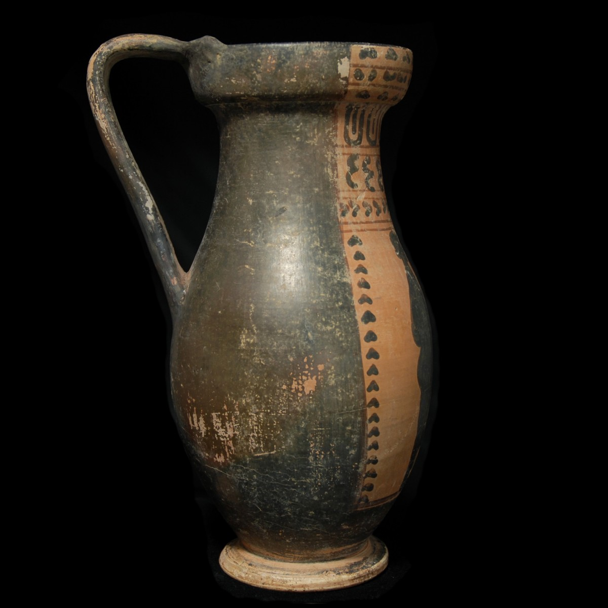 Etruscan black-figured Olpe right