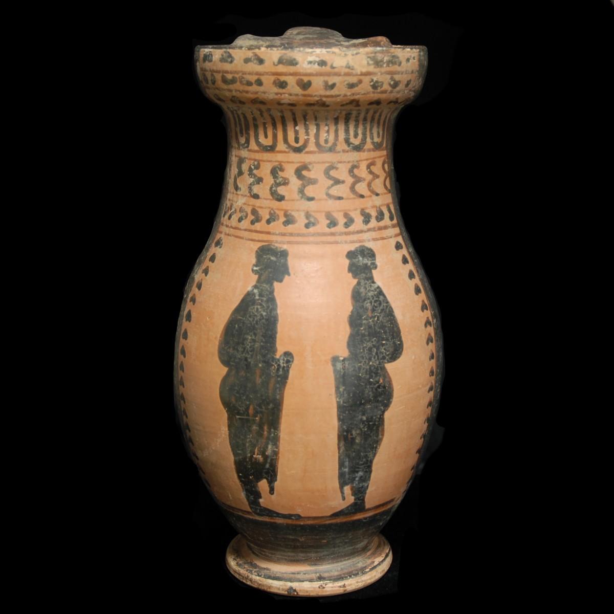 Etruscan black-figured Olpe