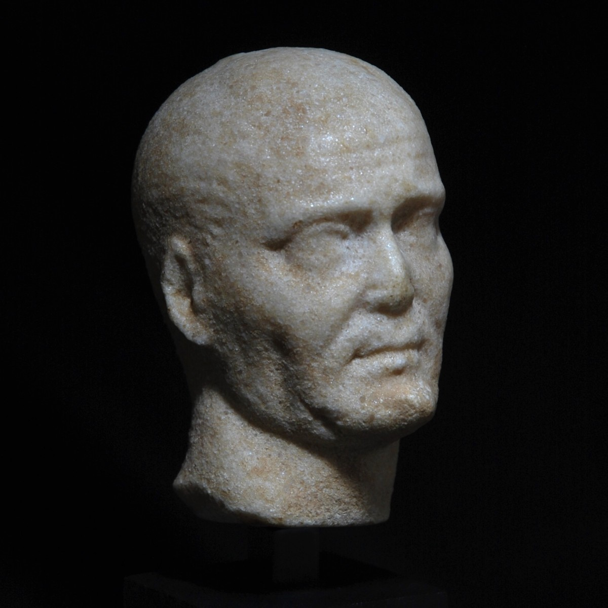 Roman Republican marble head of a noble man half right