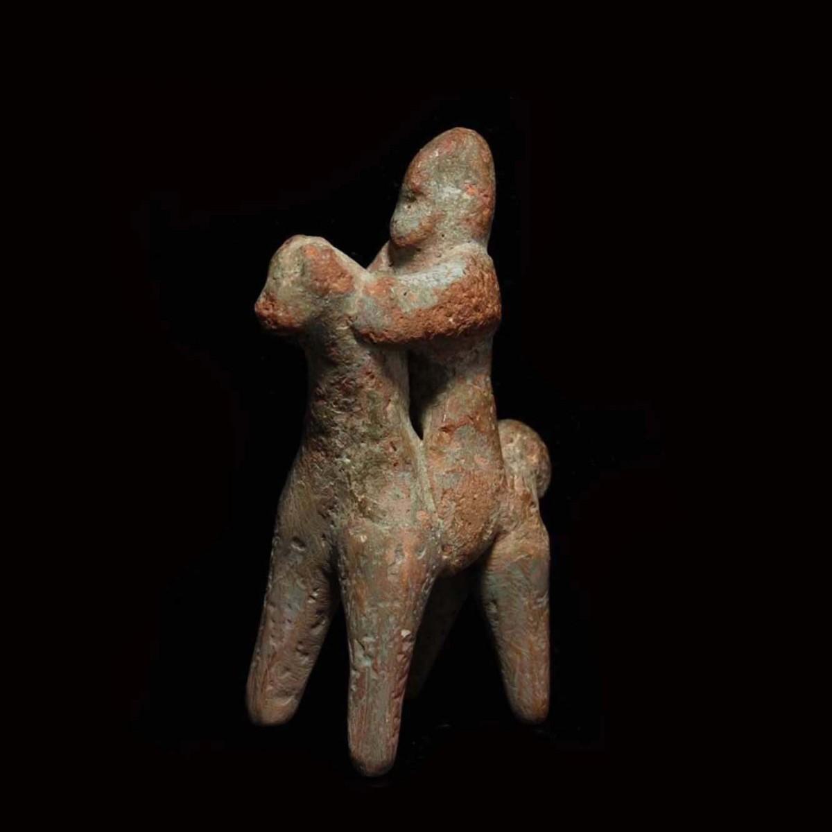 Greek archaic horse and rider half left