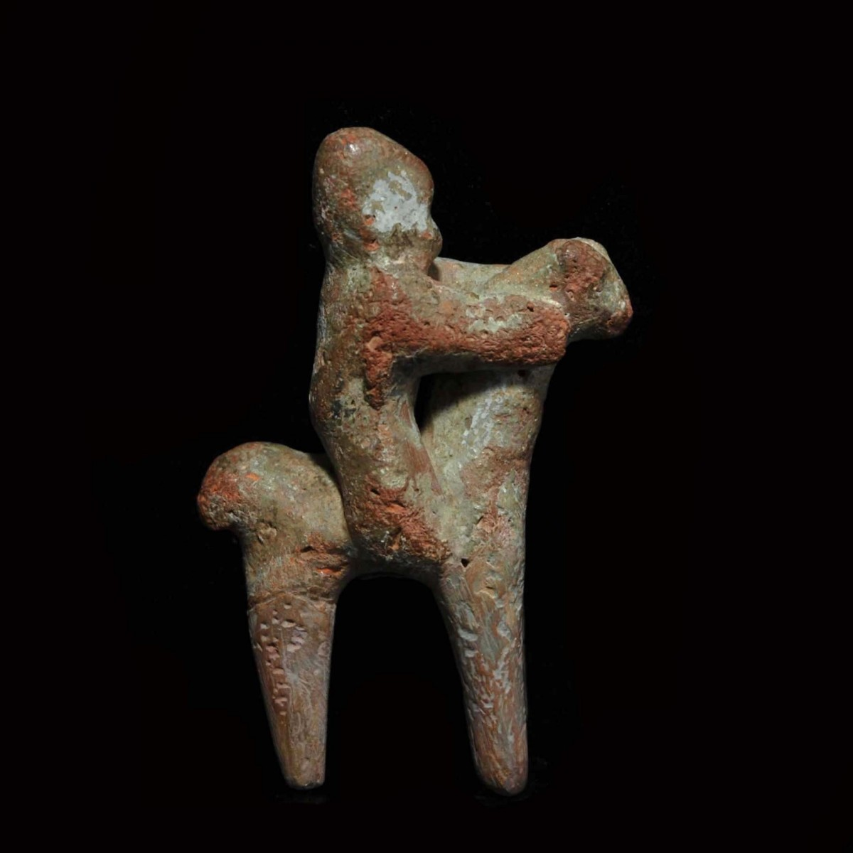Greek archaic horse and rider right