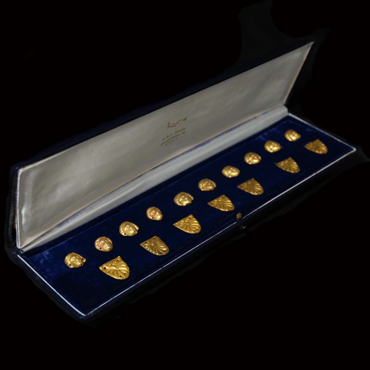 Greek classical gold appliques collection