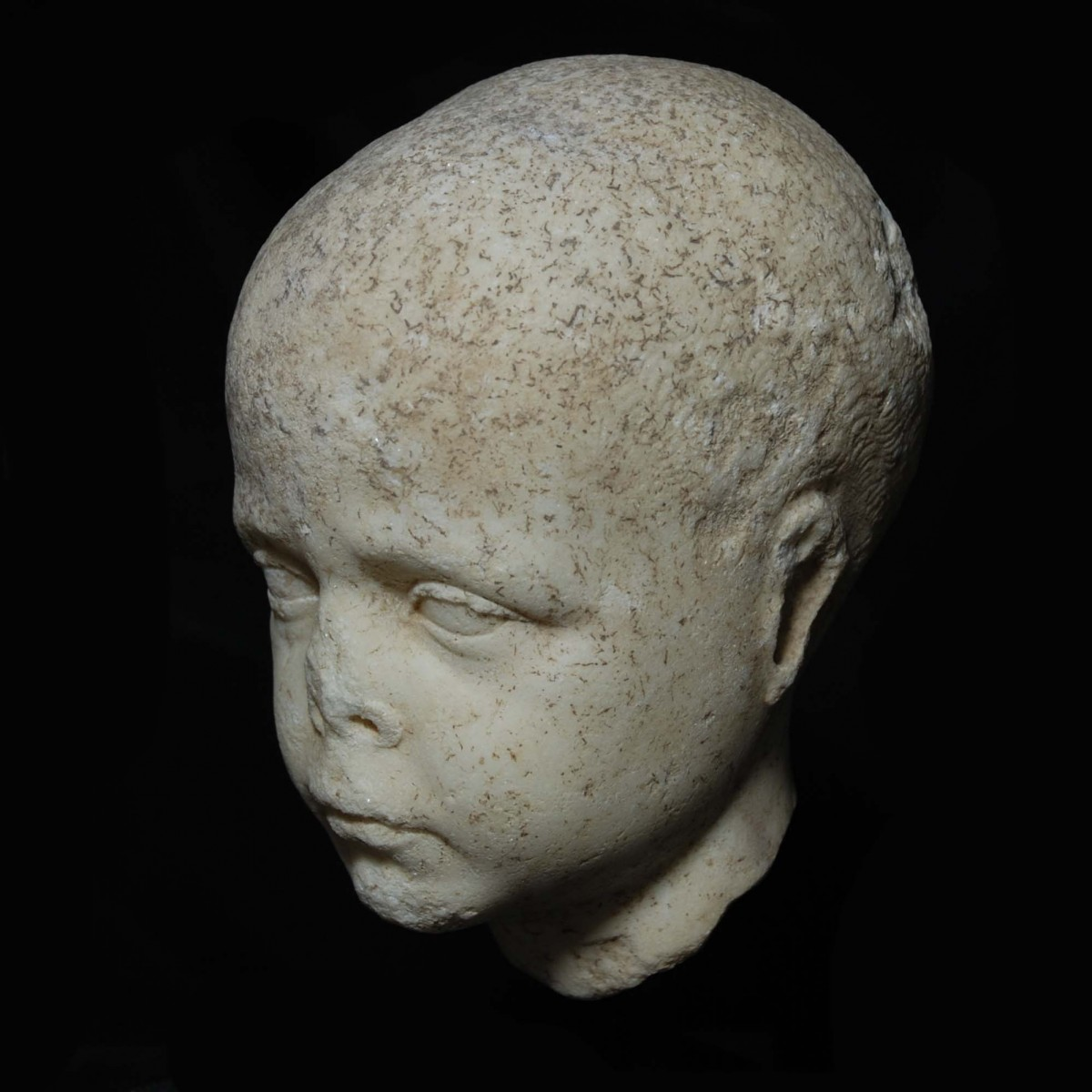 Roman Republican marble head of a boy left