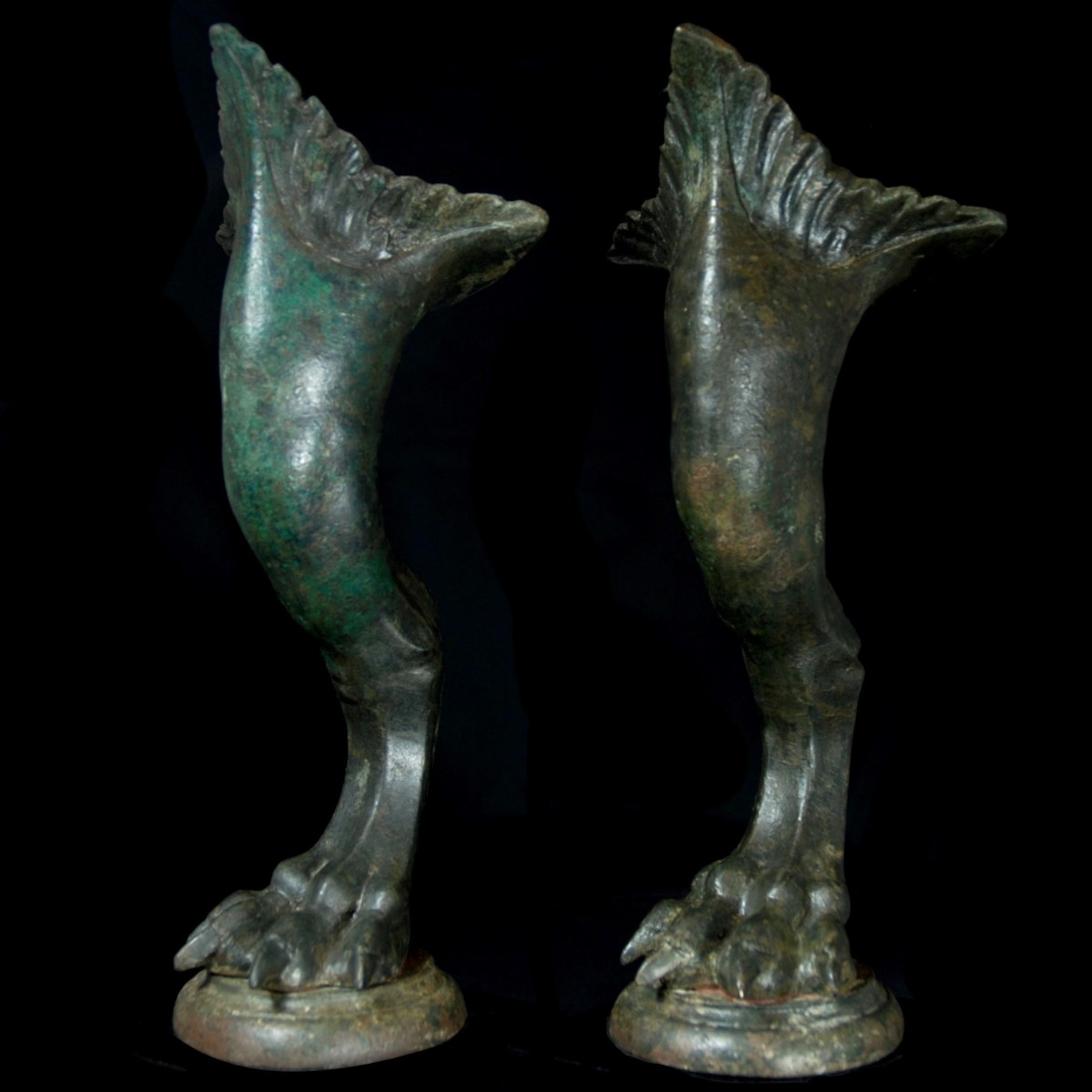 Monumental Roman furniture legs left