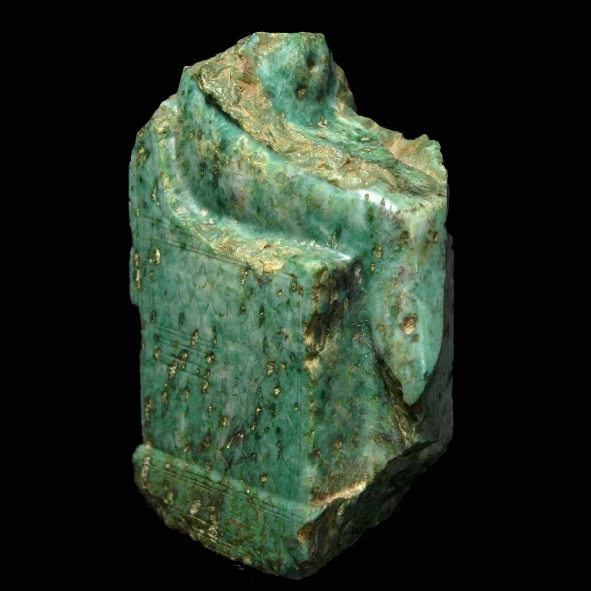 Rare Egyptian gneiss fragment of a seated pharaoh pers.