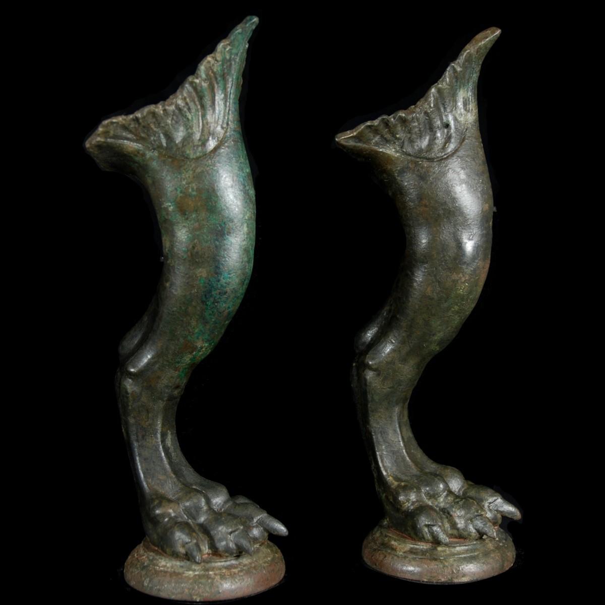 Roman Bronze legs