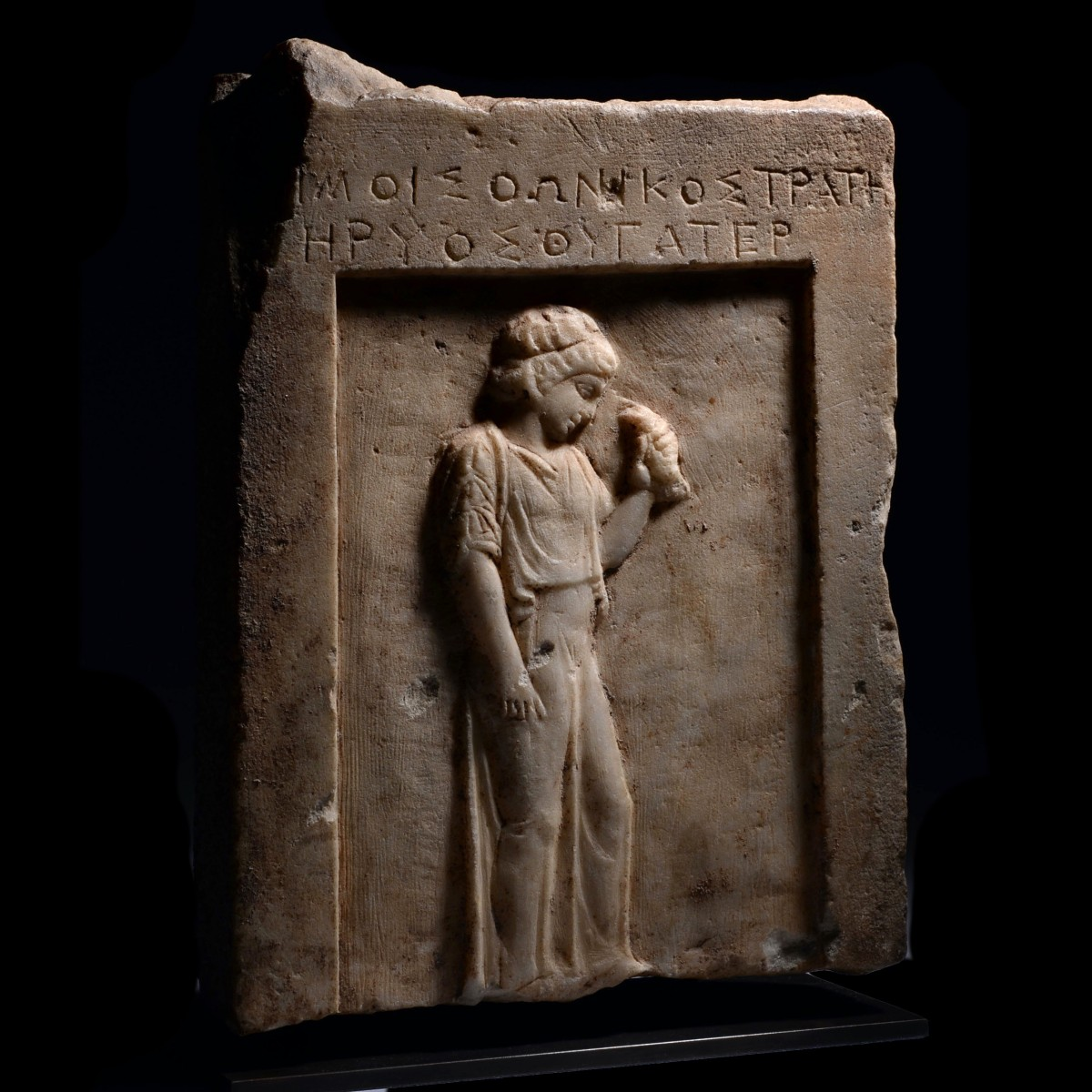 Attic stele with a girl