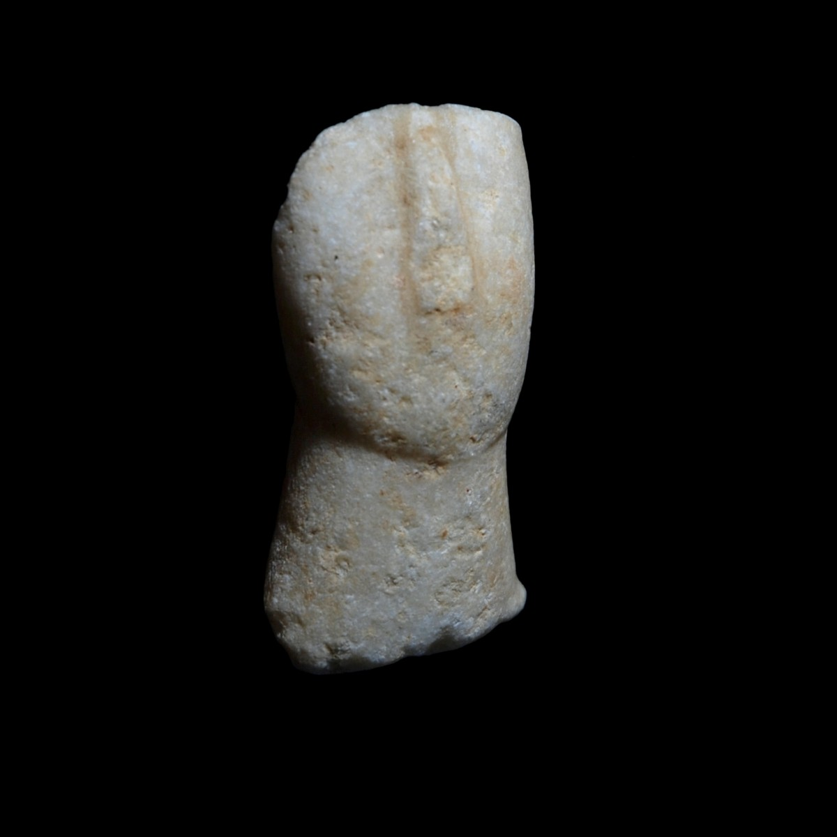 Cycladic marble idol head half right