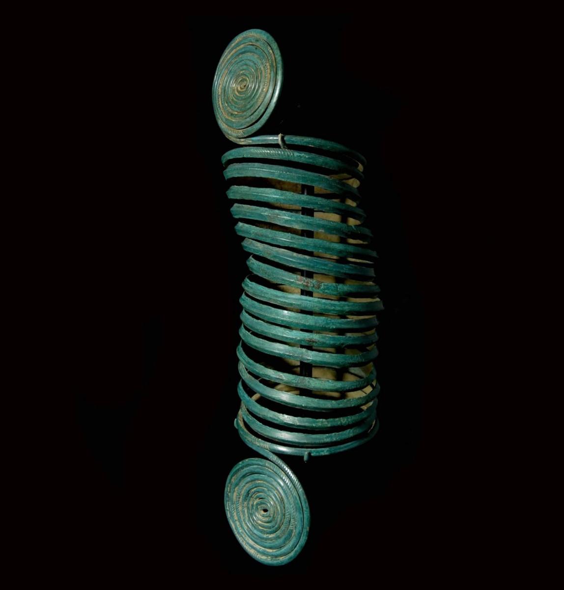 Central European Copper Alloy Spiral Arm-Band left