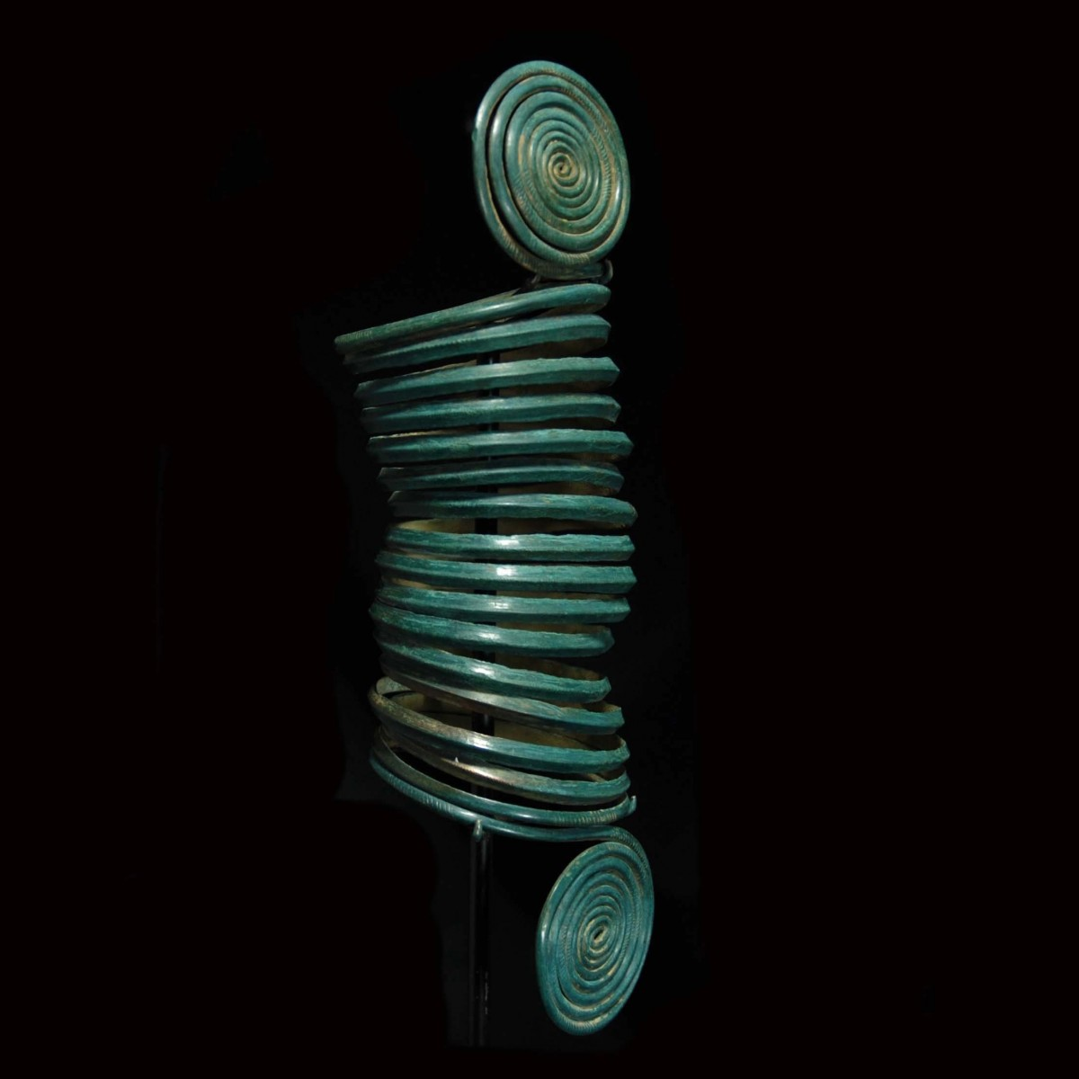 Central European Copper Alloy Spiral Arm-Band right