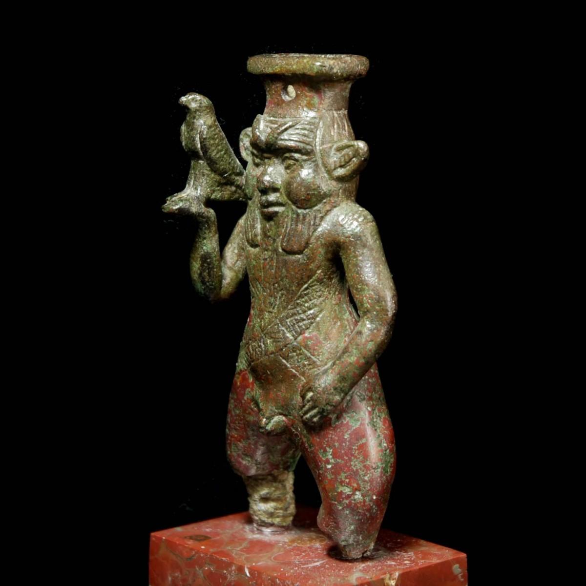 Egyptian Bronze Bes half left