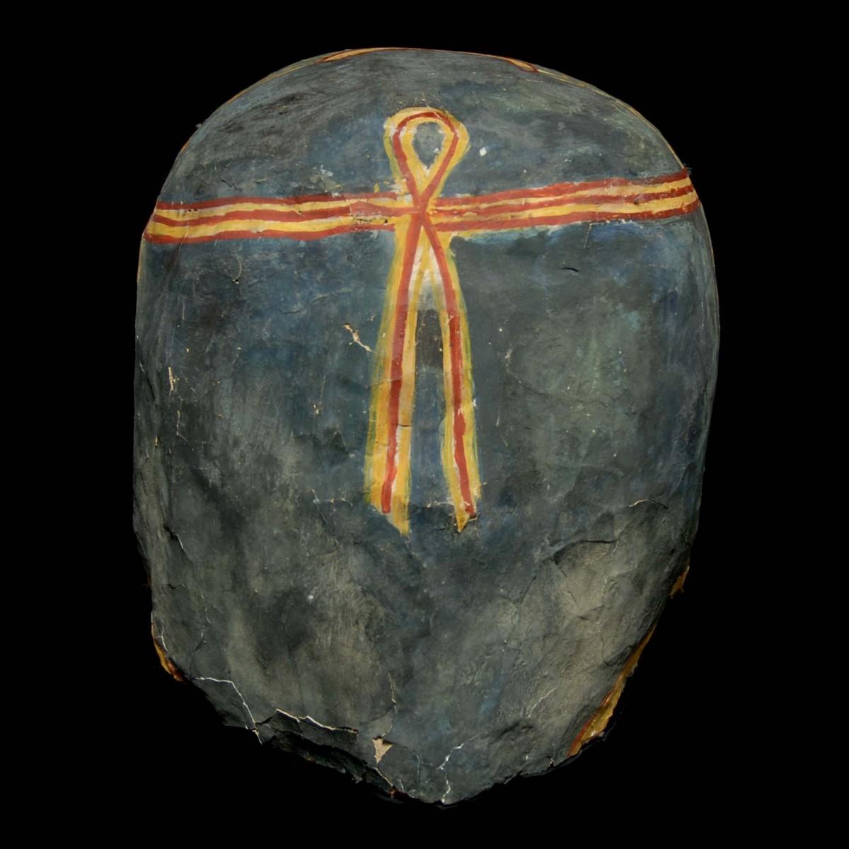 Egyptian Mummy mask linen back