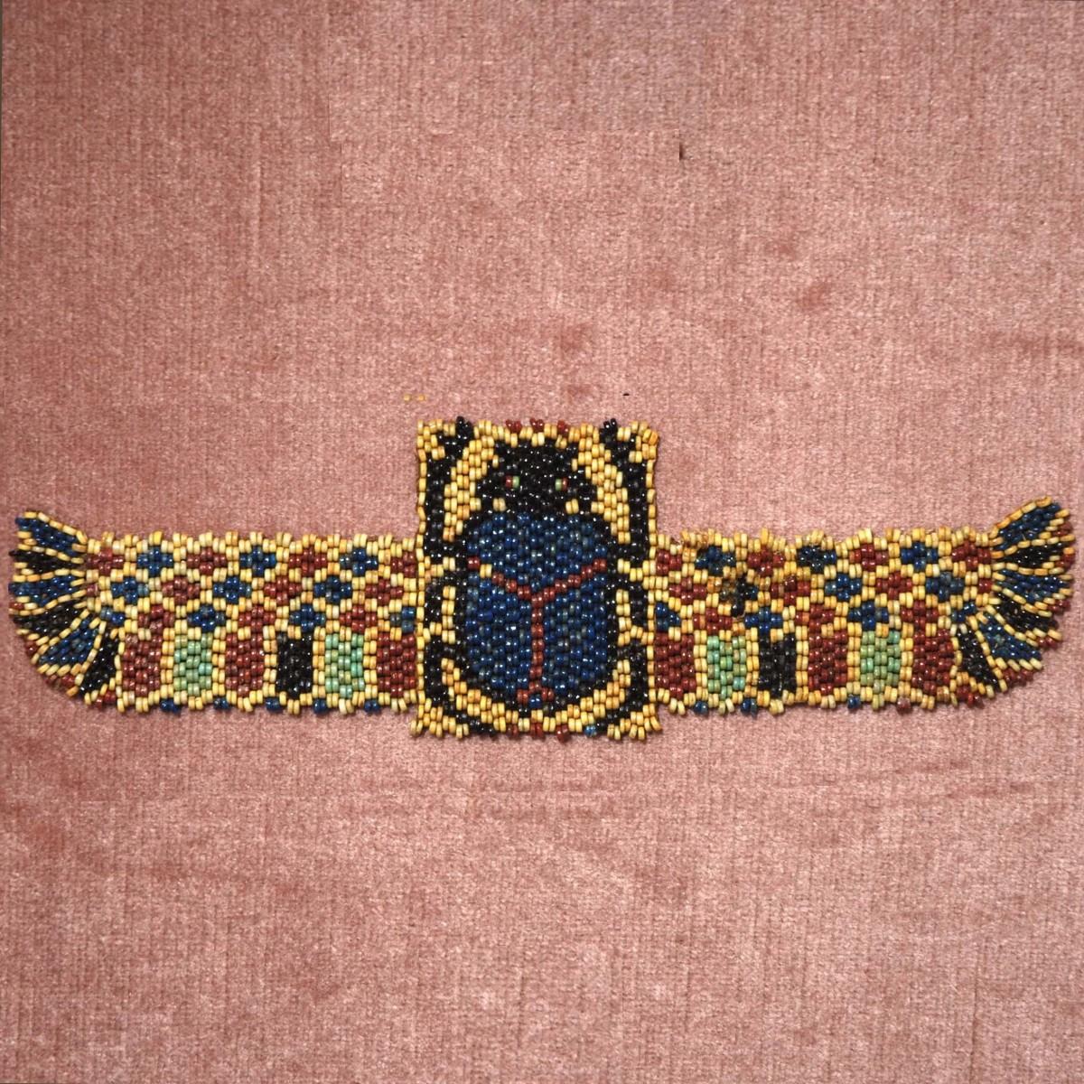 Egyptian funerary bead scarab